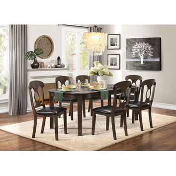 """Homelegance Lemoore Dining Table With 18"""" Leaf In Weathered Brown"""
