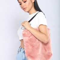 Fur Of The Party Tote Bag - Pink