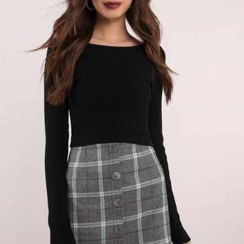 Upper East Side Plaid Ruffle Skirt