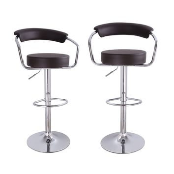 Unbyn Brown Swivel Bar Stools (Set of two)