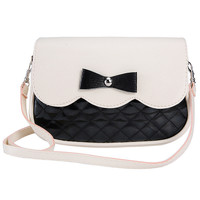 Famous Brand Leather Handbags Fashion Female Bowknot Crossbody Small Shoulder Bags Clutch Purse Bag Red Black