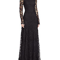 Ralph Lauren - Lorriane Long-Sleeve Lace Gown - Saks Fifth Avenue Mobile