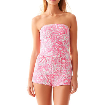 Lilly Pulitzer Taylin Strapless Swim Romper Cover-Up