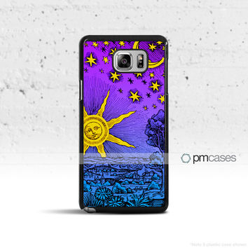 Sun Moon & Stars Case Cover for Samsung Galaxy S5 S6 S7 S8 Plus Edge Active Note 4 5 7