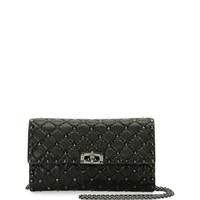 Valentino Rockstud Spike Chain Bag, Black