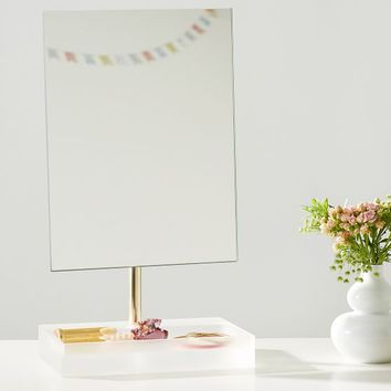 Ava Frosted Acrylic Beauty Mirror