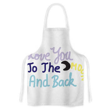 "Vasare Nar ""Love You To The Moon And Back"" Pastel Vector Artistic Apron"