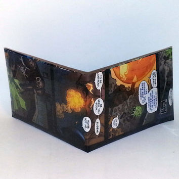 Small Business Saturday Sale// Comic Book Wallet// Venom vs Jack O' Lantern