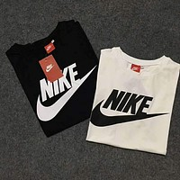 NIKE 2018 summer round neck breathable classic logo big hook short-sleeved T-shirt F-Great Me Store
