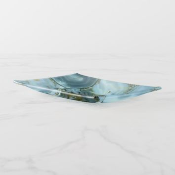 Marbled Blue Agate Trinket Trays