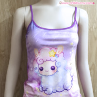 Shooting star alpaca - Cute spaghetti strap Top - ST1 from Chibi Bunny