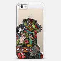 chimpanzee love transparent iPhone 5s case by Sharon Turner | Casetagram ~ get $5 off using code: 5A7DC3