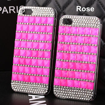 Crystal iphone 6 plus case iphone 6 case bling rhinestone iphone 6 plus cases iphone 5/5s case iphone 4/4s cases cover fashion phone cases