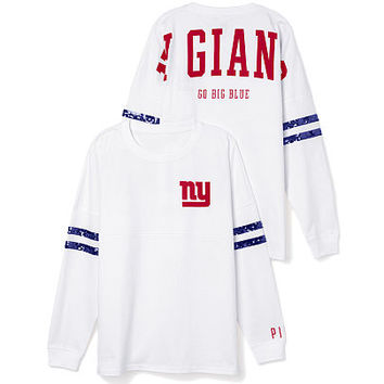 New York Giants Bling Varsity Crew - PINK - Victoria's Secret