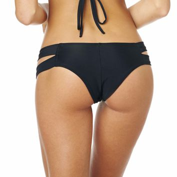Montce Swim - Black Euro Additional Coverage Bikini Bottom
