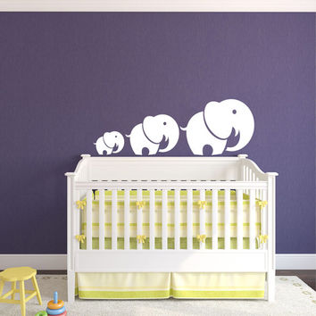 Mom and Baby Elephant Animal Wall Vinyl Decal Sticker Children Boy Girl Kids Baby Room Nursery Design Interior Decor Bedroom SV4539