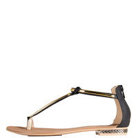 Golden Reptile Sandals - 8