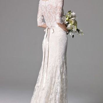 Watters 'Riviera' Illusion Bodice Lace Gown (In Stores Only) | Nordstrom