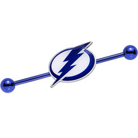 Licensed Blue Anodized NHL Tampa Bay Lightning Industrial Barbell 38mm