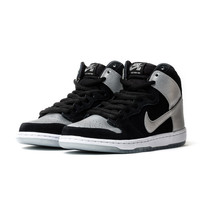 Nike SB Dunk High Pro-Black/Metallic Silver-Black
