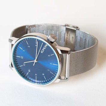 Komono Royale Series Watch Silver Blue