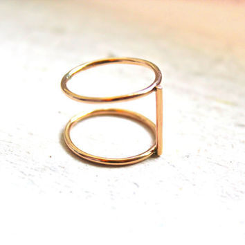 Axis Ring- thin bar ring- double ring-2014 Fashion