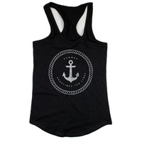 Anchor Summer Good times Tan Lines Tank Top for Summer Vacation