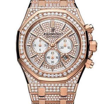 Audemars Piguet Royal Oak Offshore 18K Pink Gold Diamond Ladies Watch