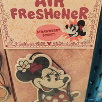 disney parks classic car air freshener minnie mouse strawberry scent new sealed