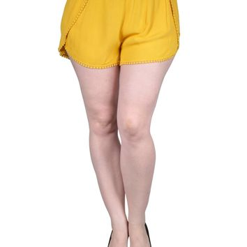 Plus Size Woven Dolphin Shorts