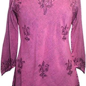 Embroidered Rayon Renaissance Blouse