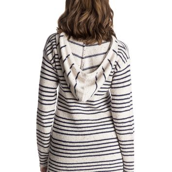 Mellie Hooded Poncho Sweater 888701618607   Roxy