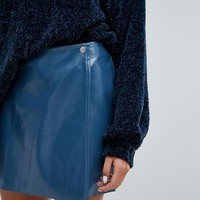 Weekday Vinyl Wrap Front Skirt at asos.com