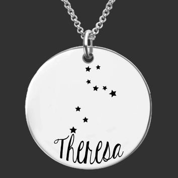 Leo Constellation Zodiac Necklace