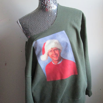 Christmas Vacation Clark Off The Shoulder Sweatshirt