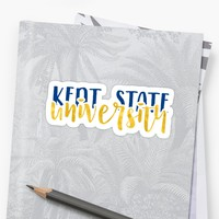 'Kent State University - Style 1' Sticker by kayceecolleges