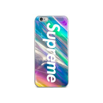 Supreme Logo Psychedelic iPhone Case, Trippy Retro iPhone Case, Supreme Phone Case, iPhone 6 iPhone 7, iPhone 8, iPhone X case