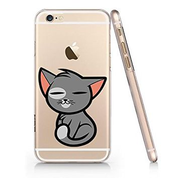 Cute Cat Slim Iphone 6 6s Case, Clear Iphone Hard Cover Case For Apple Iphone 6 6s Emerishop (NPT141.6sl)