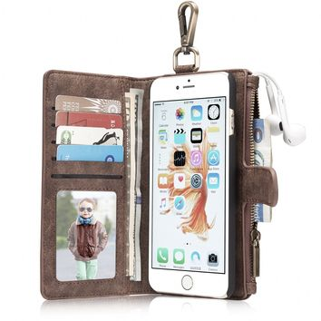 Leather wallet phone case iPhone 6/iPhone 6S/iPhone 6 Plus/iPhone 6S Plus/iPhone 7/iPhone 7 Plus