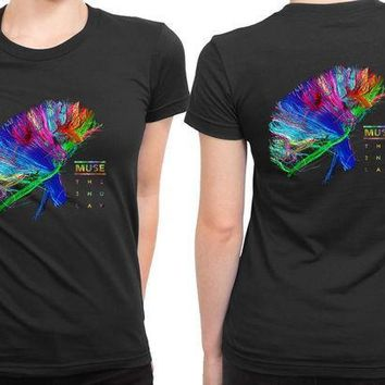 MDIG1GW Muse The Second Law Cover Colorize 2 Sided Womens T Shirt