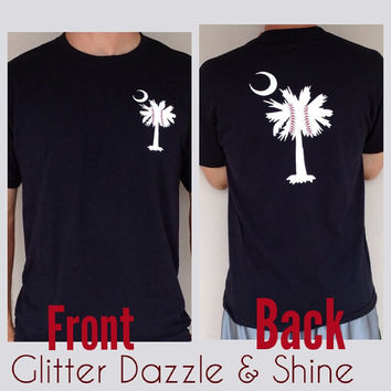 Baseball Palmetto Tree Tee- Can Be Customized