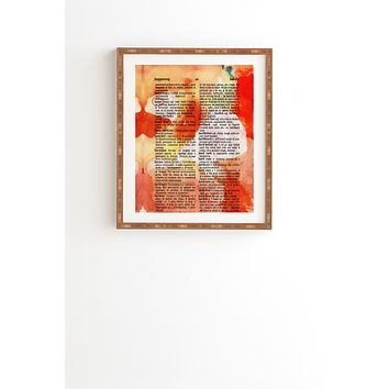 Susanne Kasielke Happy Dictionary Art Framed Wall Art