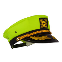 Captain Ford's Neon Captain Hat, (Neon Yellow)