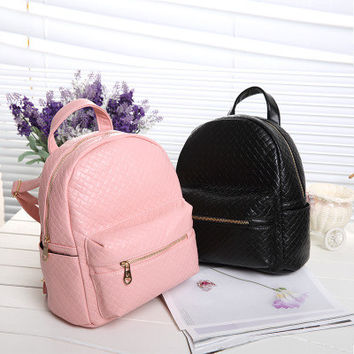 Brand Like Fashion Leather Shoulder Candy Multi Color Women Casual Messenger Bags Chic Backpack  _ 8293