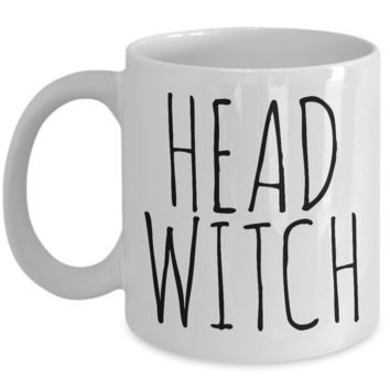 Head Witch Cauldron Mug Funny Halloween Ceramic Coffee Cup Gifts for Witches