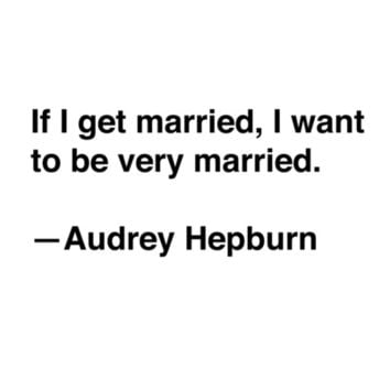 Audrey Hepburn on Marriage Stretched Canvas by Quotevetica