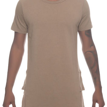 The Stela Layered Tee in Brown