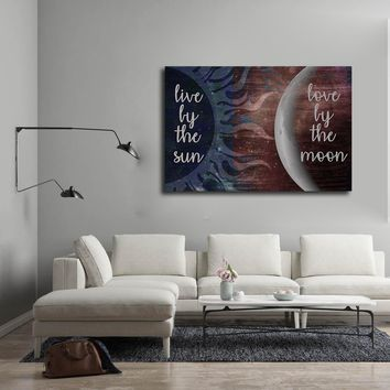 Live By The Sun Love By The Moon Canvas Wall Art