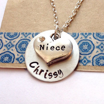 Niece Necklace, Niece Jewelry, Jewelry for Niece, Gift for Niece, Personalized Necklace, Hand Stamped