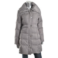 Kenneth Cole New York Womens Down Long Sleeves Puffer Coat